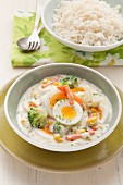 Vegetarian egg and vegetable fricassee