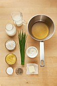 Ingredients for classic mustard sauce