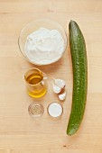 Ingredients for classic tzatziki