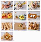 Kleftiko mit Lamm, Gemüse und Feta im Backpapier zubereiten