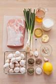 Zutaten für Schweinebraten mit Kräuterkruste