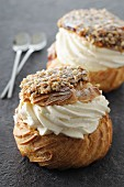 Choux Craquelin (profiteroles with a crumb crust, France)