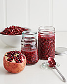 Pomegranate and raspberry jam