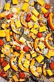 Oven-baked pumpkin with polenta and sage