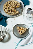 Low-carb chia and peach tart