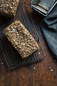 Superfood chia bread with seeds, grains and flakes (low carb)