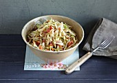Styrian-style coleslaw with bacon