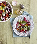 Millet salad with feta and Galia melon