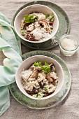 Vegetarisches Risotto mit Shiitakepilzen