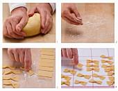 Spelt pasta being made
