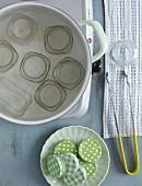Marmeladengläser auskochen