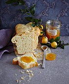 French yellow plum jam with cloves