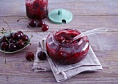 Sour cherry jam with tonka beans
