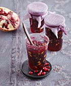 Pomegranate jelly with pistachios