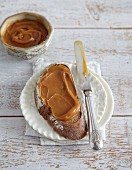 Salted caramel spread with fleur de sel