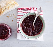 Lingonberry jam with apple juice