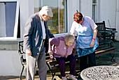 Alzheimer's couple and carer