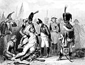 Napoleon awarding a medal, 19th C illustration