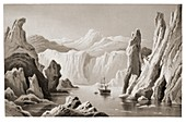 Engraving of arctic exploration