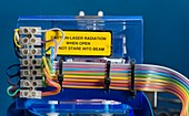 Laser control circuits and warning