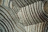 Agate, polarised light micrograph