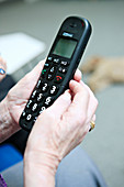 Telephone for person with dementia