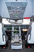 Airbus A350 cockpit.