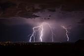 Lightning strikes, Arizona, USA
