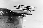 Eugene Ely taking off from USS Pennsylvania, USA, 1911