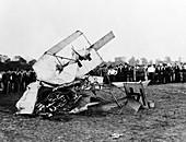 Eugene B. Ely, US aviator's plane crash, 1911