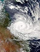 Cyclone Debbie off Australian coast
