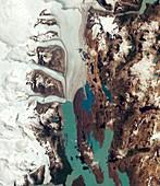 Upsala Glacier, Argentina, satellite image