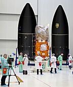 Sentinel-2A satellite launch preparation