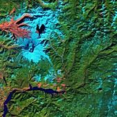 Mount St Helens, USA, satellite image