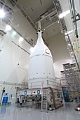Orion spacecraft prior to first test flight, 2014
