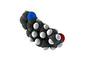 Abiraterone prostate cancer drug molecule
