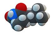 Amobarbital drug molecule