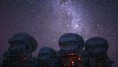 ALMA radio telescopes, time-lapse footage