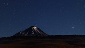 Cerros de Tocorpuri volcano at night, time-lapse footage