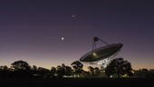Conjunction over Parkes Observatory, time-lapse footage