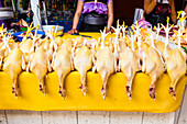Dead chickens in a Mexican market
