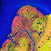Yukon Delta, satellite image