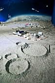 Chinese moonbase model.