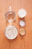 Ingredients for making porridge