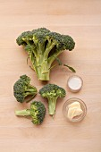 Ingredients for the preparation of broccoli