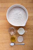 Ingredients for ciabatta