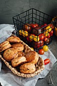 Spicy scones with dried tomatoes and feta