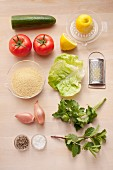 Ingredients for couscous salad