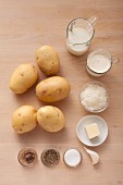 Ingredients for potato gratin