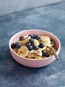Whole-wheat couscous with blueberries and banana